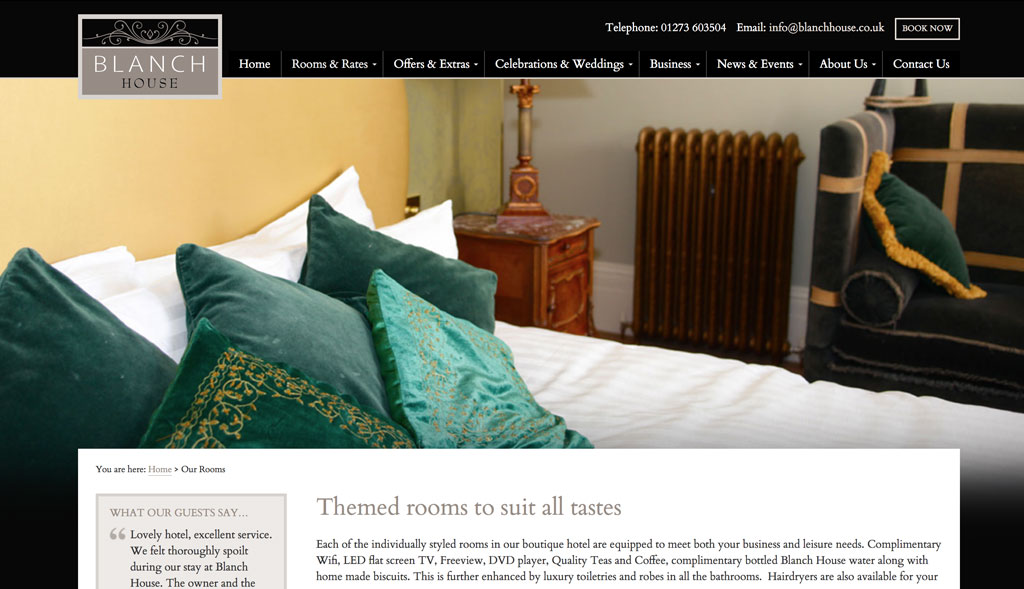Website design for Blanch House