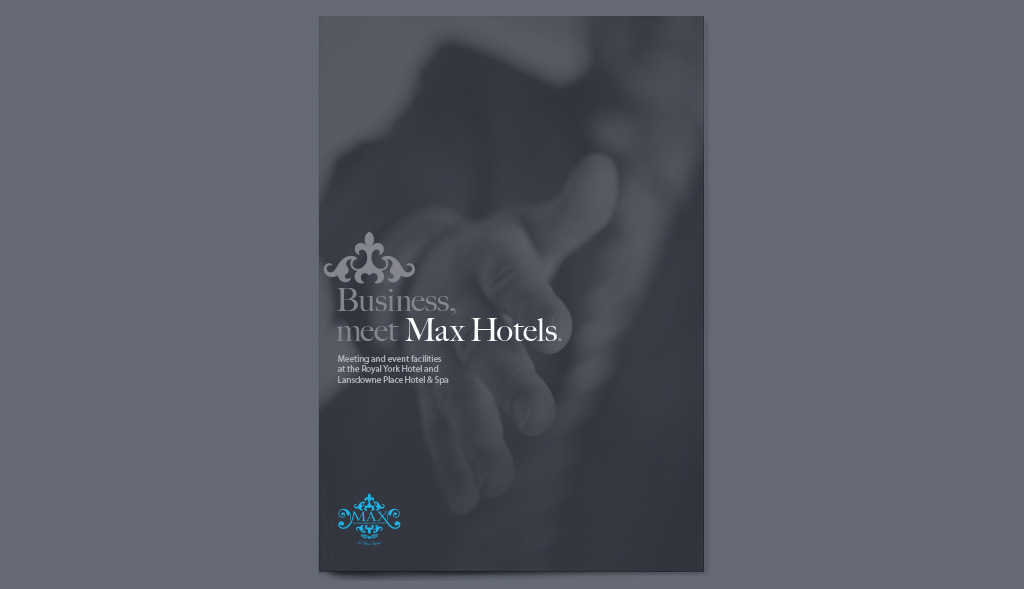 Brochure design for Max Hotels
