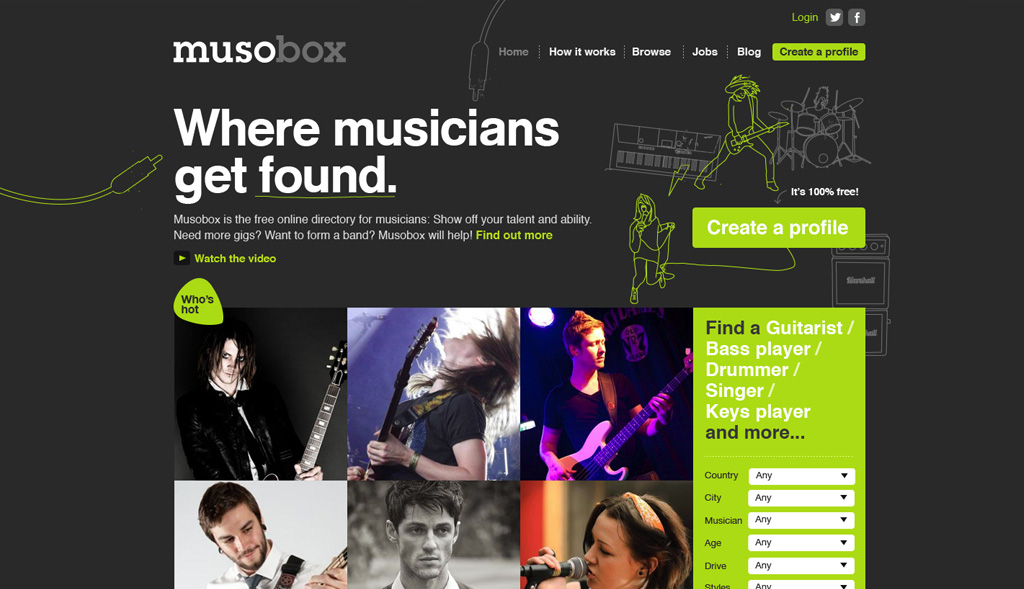 Website design for Musobox