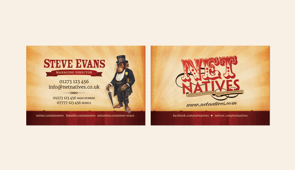 Business card design for Net Natives