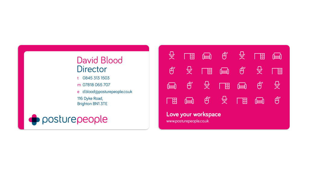 Business card design for Posture People