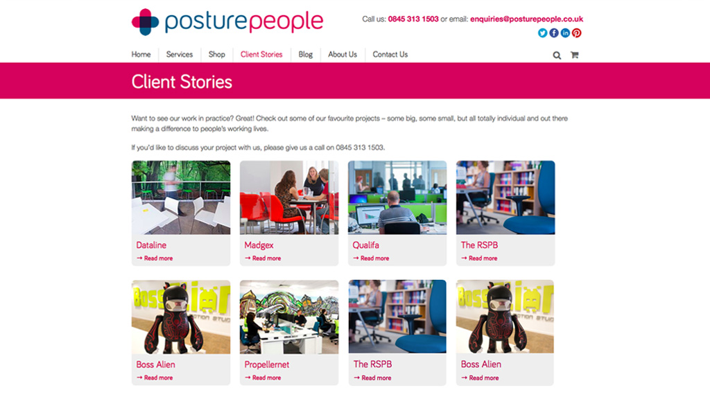 Website design for Posture People