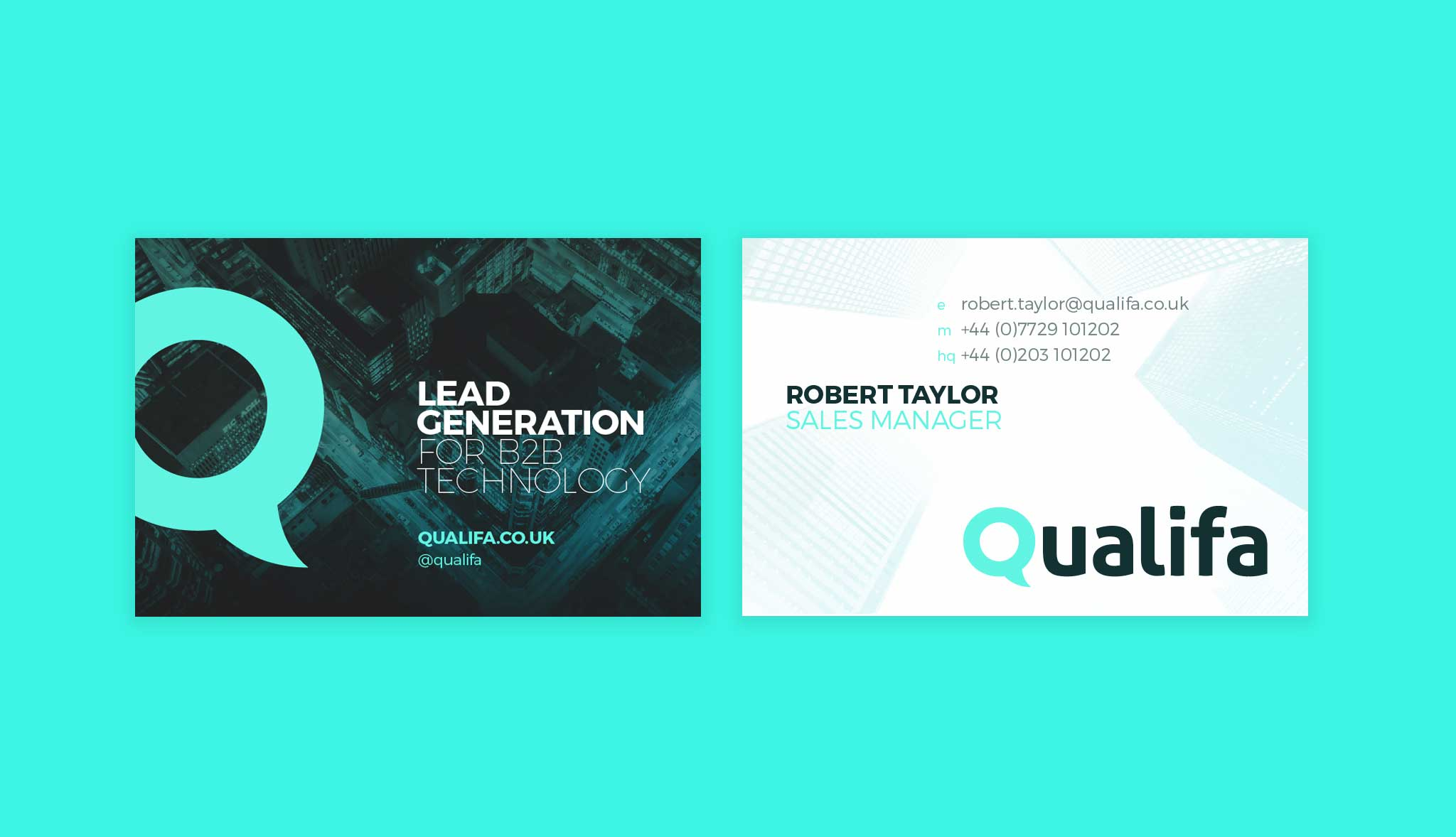 Business card design for Qualifa