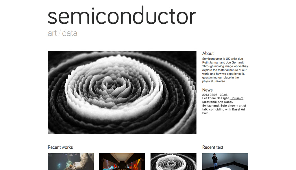 Website design for Semiconductor