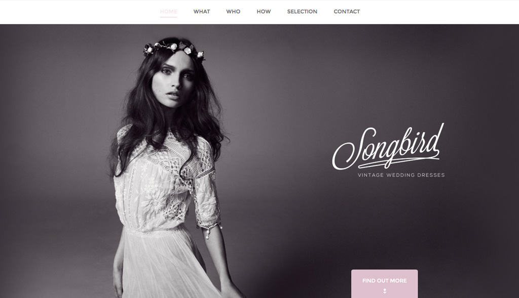 Website design for Songbird
