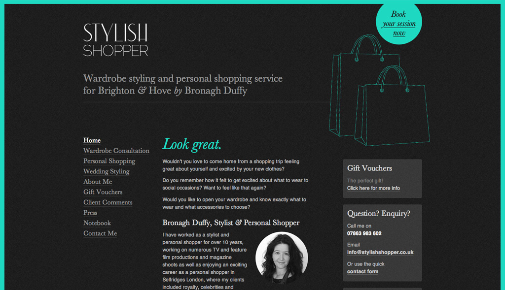Website design for Stylish Shopper
