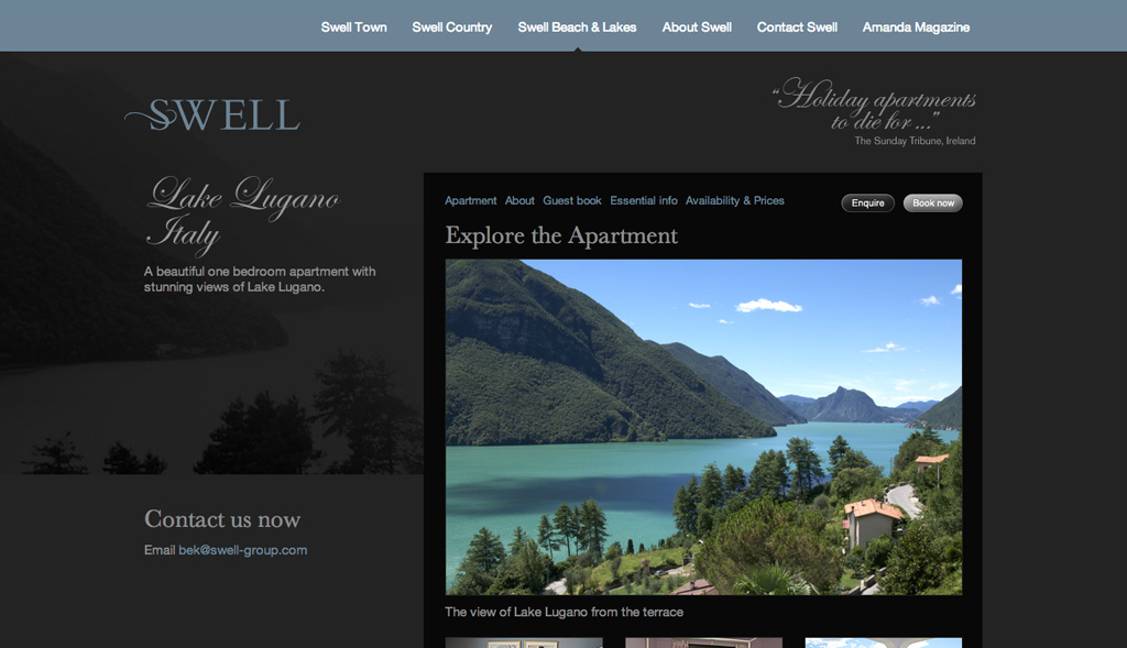 Website design for Swell