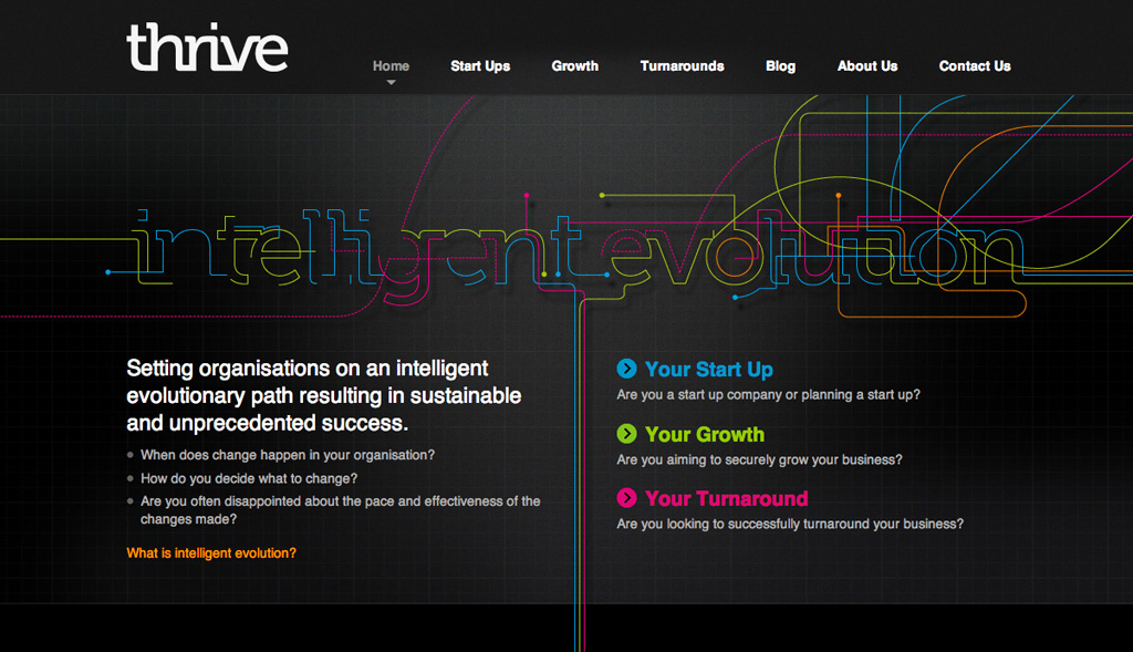Website design for Thrive