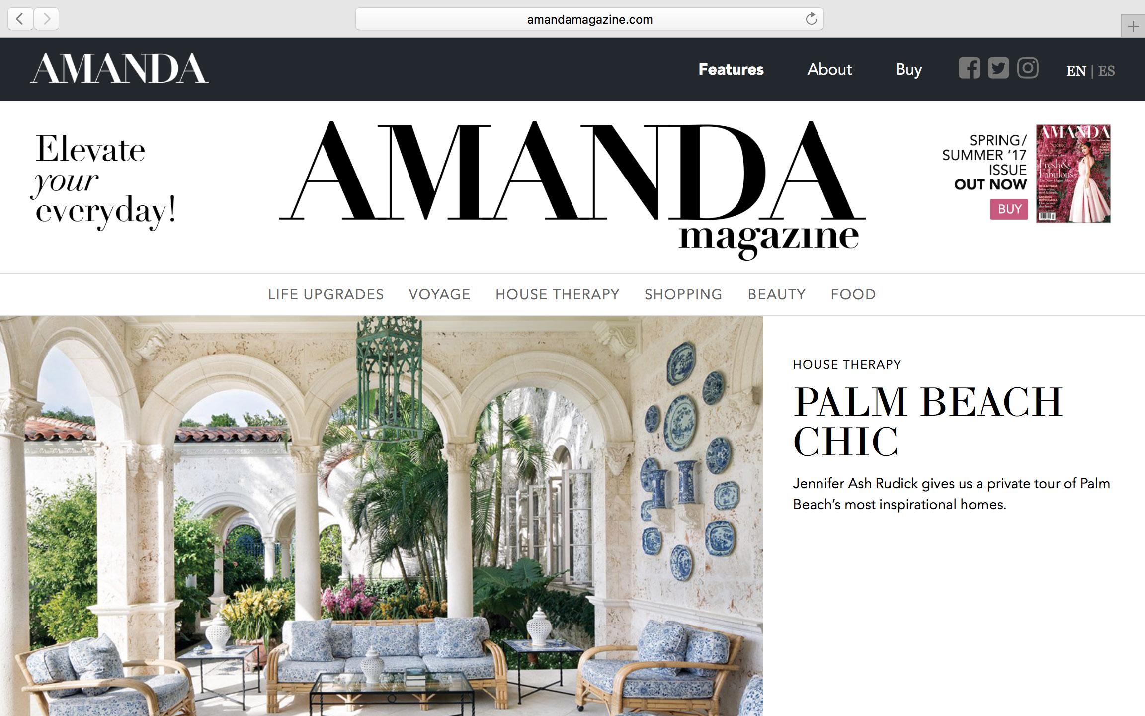 Website Design For Amanda Magazine Oli Pyle